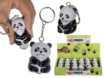Schlüsselanhänger Squeeze-Panda 6 cm 24 Stck im Display