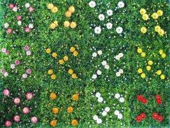Rasenfliese mit Blumen 25x25cm 12ass