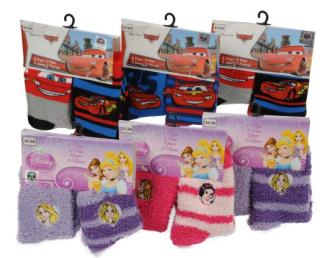 Socken Disney Princess/Cars 2 Paar 4ass