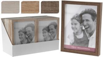 Fotorahmen Holz 3 Farben ass im 12er Display 26x20cm