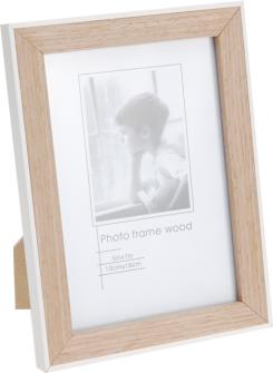 Fotorahmen Holz mit weisser Umrandung 20x14.8x1.5cm