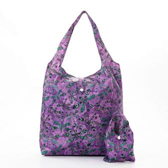 Einkaufstasche ECO CHIC Libellen Violett faltbar Nylon 56x38x10cm