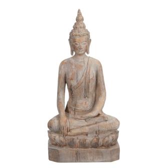 Buddha sitzend Polyresin Höhe 46.5cm