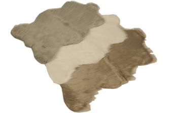 Dekofell Polyester/Acryl braun, grau, weiss 60x90cm