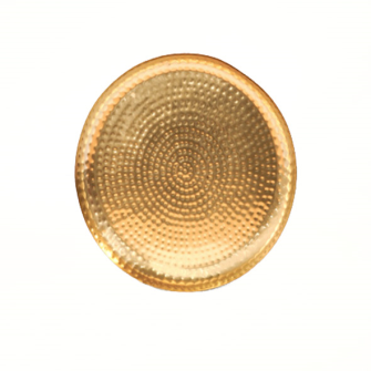 Dekoteller Marokkanisch gold Metall 40x3.5cm