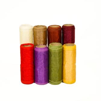 Organza-Dekostoff auf Rolle 12 Farben 12x5cm