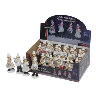 Weihnachtsfiguren 13x6x4.5cm 4ass