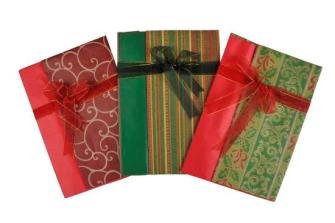 Geschenkpapier Set 3ass 70x100cm 50x70cm Geschenkband 2m