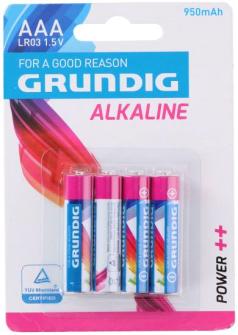 Batterien AAA LR03 4 Stk Grundig Alkaline
