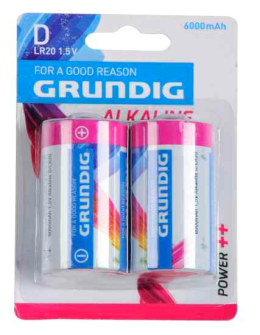 Batterien Alkaline D LR20 2 Stk Grundig