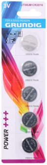 Knopfzellenbatterien 5Stk CR2016 Grundig Lithium
