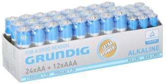 Batterien 12xAAA/24xAA Alkaline Grundig