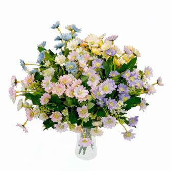 Blumenstrauss Margeriten 6 Zweige 32cm ass