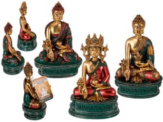 Buddha Polyresin 14cm 3ass