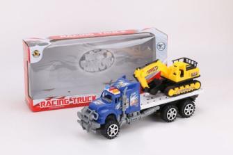 Transporter mit Bagger 34x9x16cm 2 ass