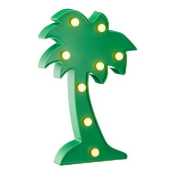 LED Marquee Leuchte Palme 25cm 2xAA Batterien