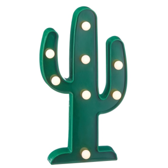 LED Marquee Leuchte Kaktus 25cm 2xAA Batterien