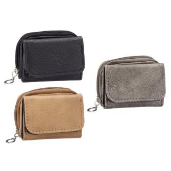 Portemonnaie Mini PU 3 Farben ass 7x9x3cm