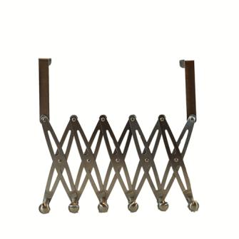 Hakenleiste ausziehbar für Tür 6 Haken Blister, Edelstahl 15.5x12.5cm