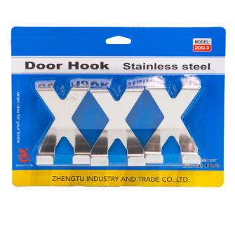 Haken für Tür 3erSet XXX Blister, Edelstahl 5x6.5x2.5cm