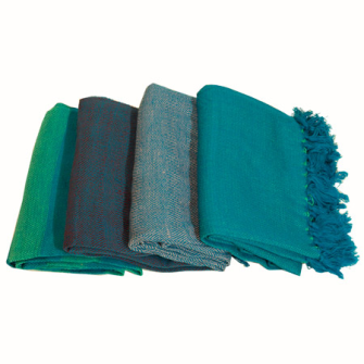 Decke gewebt 4 Farben ass 125x150cm 100% Acryl