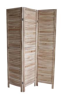 Paravent natur Holz 120x170cm