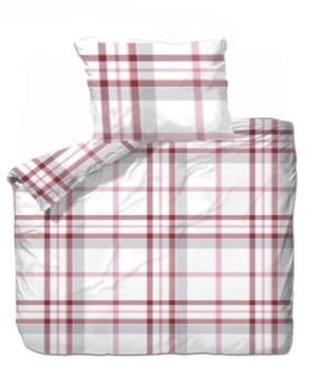Bettgarnitur Karo rot 160x210cm + 65x100cm 60% Cotton 40% Polyester