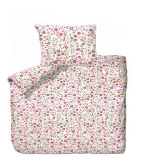 Bettgarnitur Blumen rosa 160x210cm + 65x100cm 60% Cotton 40% Polyester