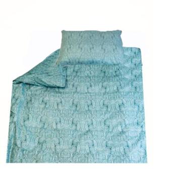 Bettgarnitur Paisley blau 160x210cm + 65x100cm 60% Cotton 40% Polyester