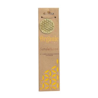 Räucherkegel Organic Sandelholz 12 Stck mit Keramikhalter