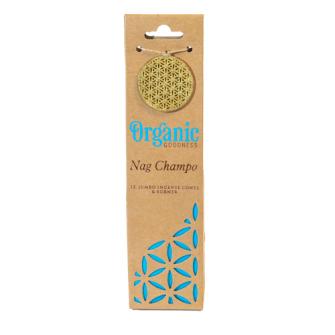 Räucherkegel Organic Nag Champa 12 Stck mit Keramikhalter