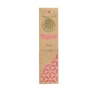 Räucherkegel Organic Rose 12 Stck mit Keramikhalter