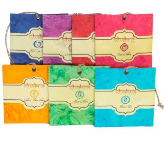 Duftsäckchen Organic 7erSet Potpourri Chakra handgefertigtes Papier 7ass INDIEN