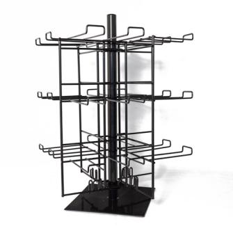 Ständer Tischständer für 96 Einkaufstaschen 4 Seiten 24 Haken
