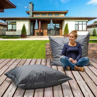 Sitzkissen Outdoor XL grau 110x110cm Polyester