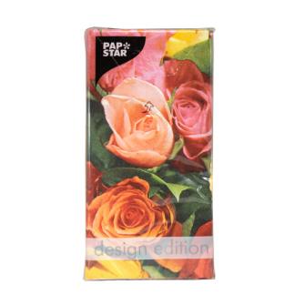 Servietten Roses 33x33cm 3 lagig 12Stk.