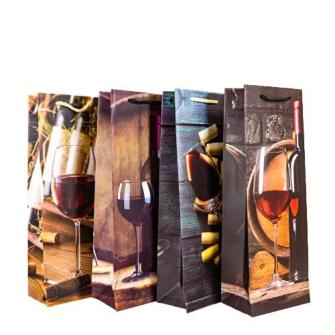 Geschenktasche Flaschenform Flaschendesign 36*12*9cm