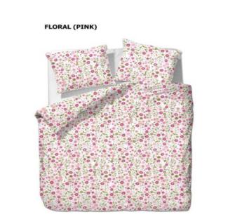 Bettgarnitur Blumen rosa 200x210cm + 65x65cm (2) 60% Cotton 40% Polyester