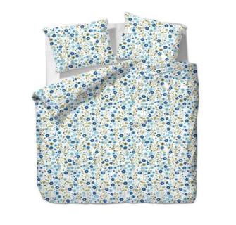Bettgarnitur Blumen blau 200x210cm + 65x65cm (2) 60% Cotton 40% Polyester