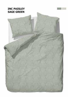 Bettgarnitur Paisley grün 200x210cm + 65x65cm (2) 60% Cotton 40% Polyester