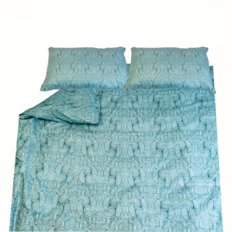 Bettgarnitur Paisley blau 200x210cm + 65x65cm (2) 60% Cotton 40% Polyester