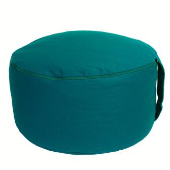 Meditationskissen Ocean Green abnehmbarer Bezug 100% Baumwolle mit Buchweizenfüllung 30x15cm