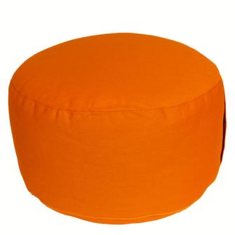 Meditationskissen Orange abnehmbarer Bezug 100% Baumwolle mit Buchweizenfüllung 30x15cm