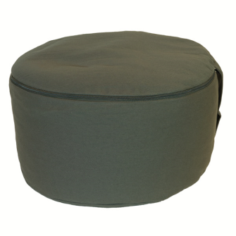 Meditationskissen Slate Grey abnehmbarer Bezug 100% Baumwolle mit Buchweizenfüllung 30x15cm