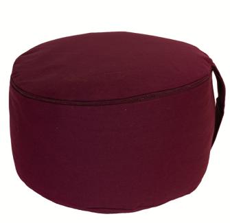 Meditationskissen Berry abnehmbarer Bezug 100% Baumwolle mit Buchweizenfüllung 30x15cm