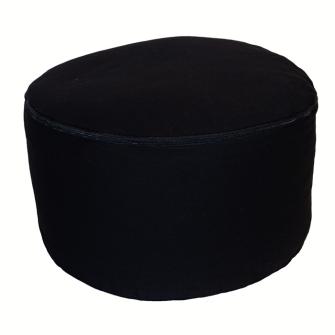 Meditationskissen Black abnehmbarer Bezug 100% Baumwolle mit Buchweizenfüllung 30x15cm