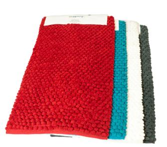 Badeteppich Microfiber Supersoft Weiss Rot Blau Grau ass 50x80cm