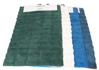 Badeteppich Baumwolle 4  Farben ass 50x80cm