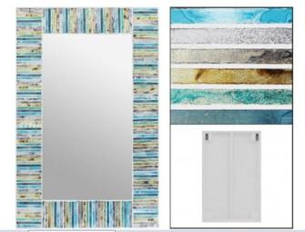 Spiegel Mosaik 40x60cm rechteckig BALI
