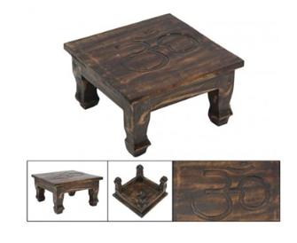 Tischchen nieder Holz 30x30cm h15m BALI